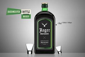 Jagermeister Bottle - Mockup