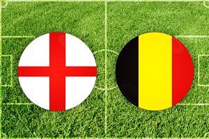 England vs Belgium football match
