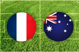 France vs Australia football match