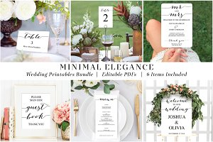 Wedding Printable Bundle Templates