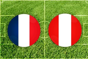 France vs Peru football match