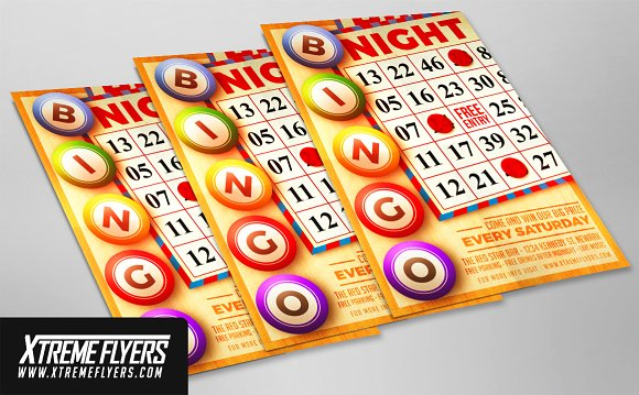 Bingo Night Flyer Template Flyer Templates Creative Market