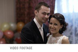 Bridal pair at a photo shoot.