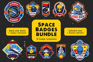 Space badge bundle