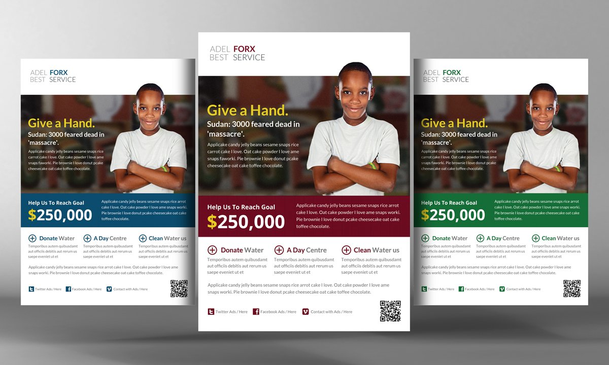 charity donation flyer template flyer templates creative market