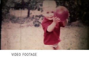 Boy playing ball. Vintage