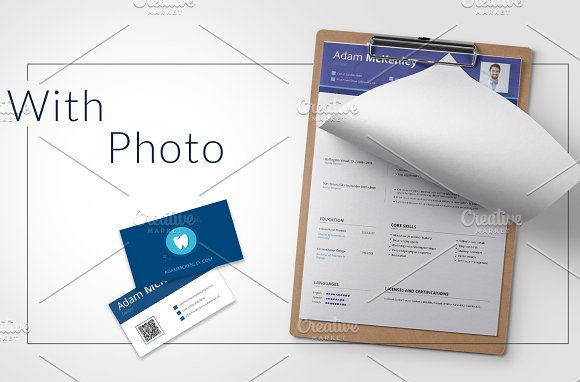 Dentist CV: PSD/AI/EPS/PDF in Resume Templates - product preview 1
