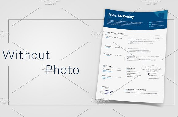 Dentist CV: PSD/AI/EPS/PDF in Resume Templates - product preview 2