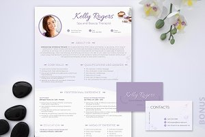 Resume PSD: Spa & Beauty Therapist