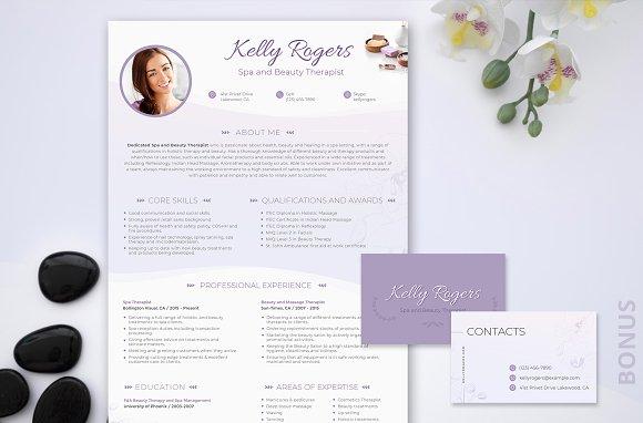 Resume PSD Spa Beauty Therapist