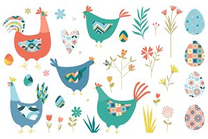 Easter Chickens and Florals
