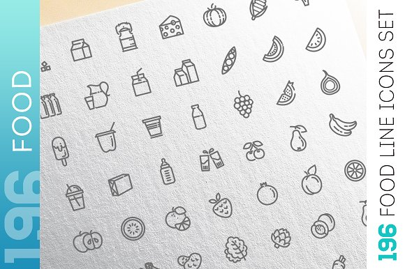 Food Drinks Icons Set Vol.2