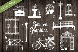 Garden Spring Graphic Illustrations