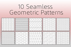 10 Seamless Geometric Patterns