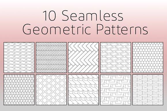 10 Seamless Geometric Patterns