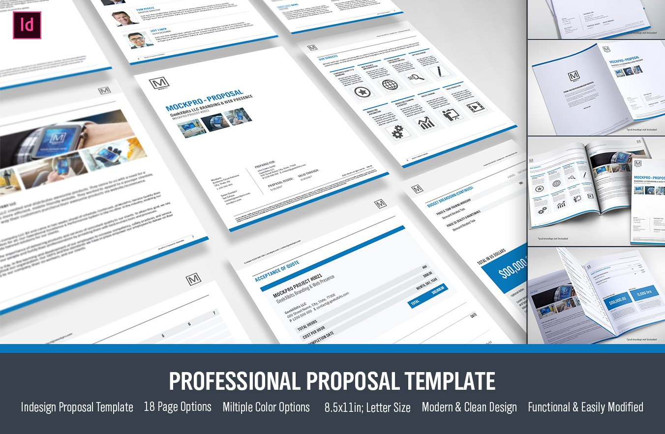 Simple Proposal Template Indesign Stationery Templates Creative