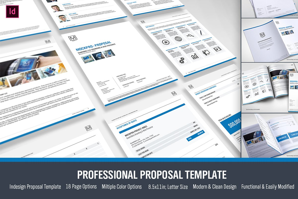 Simple Proposal Template Indesign ~ Stationery Templates
