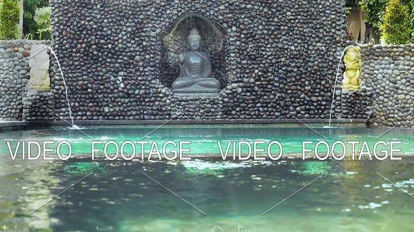 Decorative Fountain In A Swimming Pool Indonesia Bali