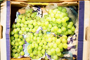 White Grapes At The Supermarket