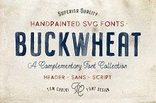 Buckwheat Opentype SVG Fonts