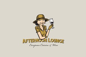 Afternoon Lounge Logo Template