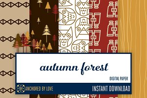 Autumn Forest Digital Paper