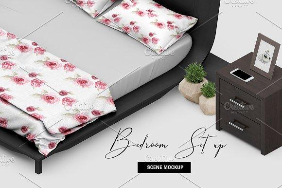 Bedroom Scene Set up Mock-up