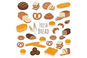 Bakery fresh bread collection