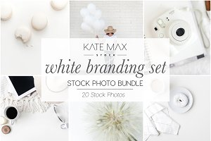 White Branding Stock Photo Bundle