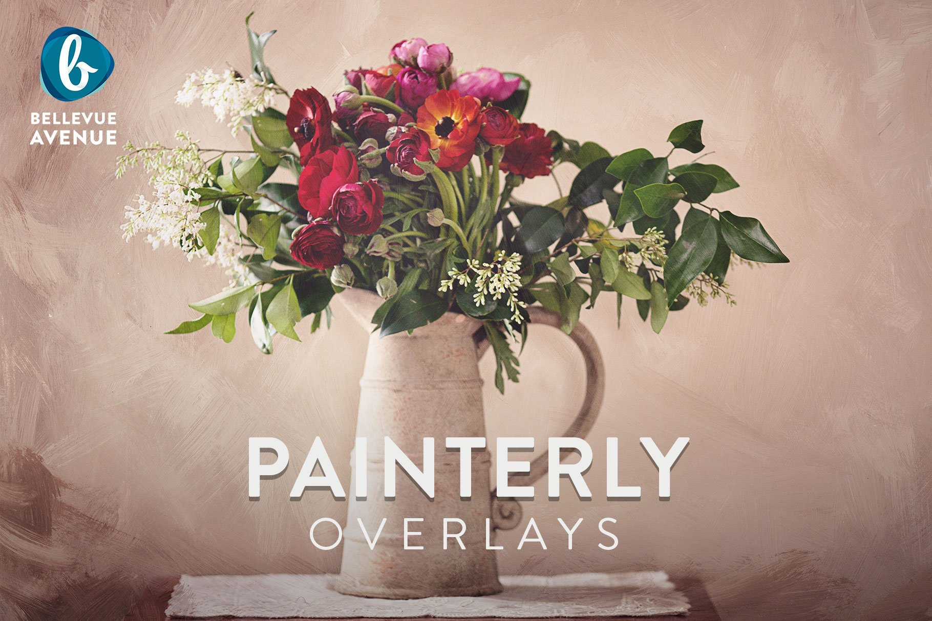 Painterly overlays real layer styles creative market fandeluxe Image collections