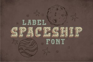 Spaceship Vintage Label Typeface