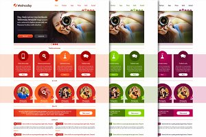 Wednesday PSD template