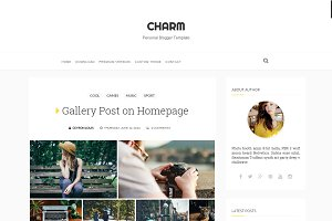 Charm Responsive Blogger Template
