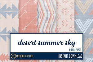 Desert Summer Sky Digital Paper