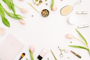 Women's fashion desk frame