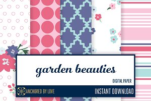 Garden Beauties Digital Paper