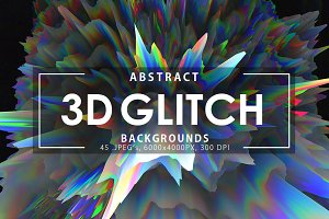 3D Glitch Backgrounds