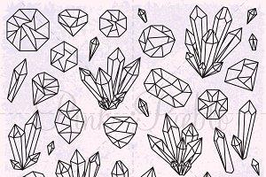 Crystal & Gemstone Clipart