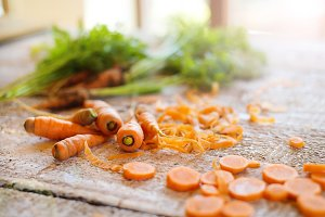 Carrot on a table