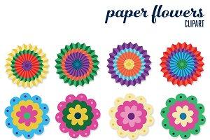 Paper Flowers Clip Art