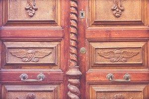 Woodcarving door