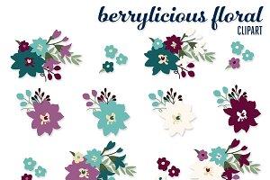 Berrylicious Floral Clip Art