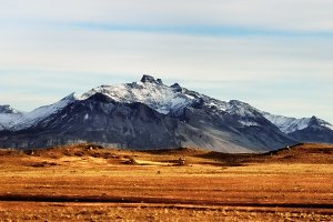 Patagonian fall mountains landscape