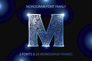 Monogram · 5 fonts · 20 frames