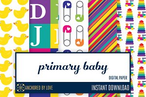 Primary Baby Digital Paper