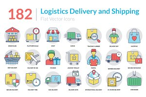 182 Logistics Delivery Icons