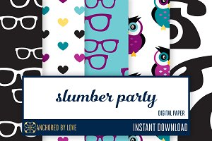 Slumber Party Digital Paper