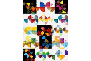 Minimalistic geometric banners set