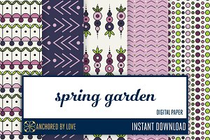Spring Garden Digital Paper