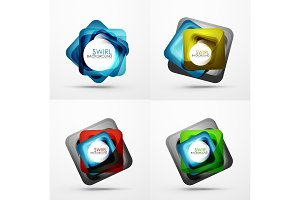 Collection of abstract square shape backgrounds